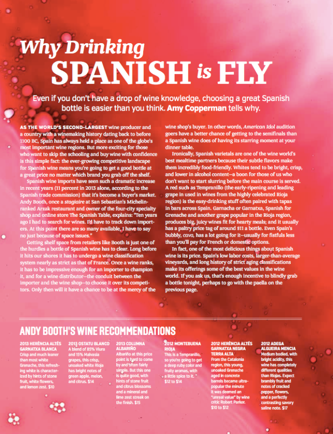 GFF Magazine Spanish Wine